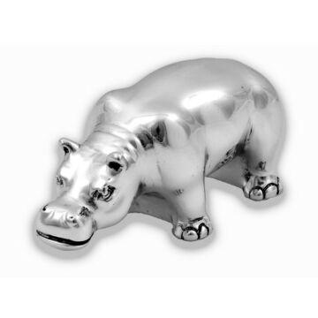 Ezüst állatfigura - ezüst laminált viziló (10 cm)