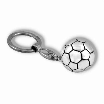 Ezüst-dísztárgy - Ezüst laminált focilabda kulcstartóval