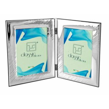 Ezüst fényképkeret - dupla (10x15 cm)