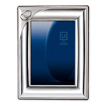 Ezüst fényképkeret - páros karikagyűrűvel (13x18cm)