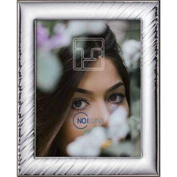 Ezüst fényképkeret - redőzött (15x20cm)