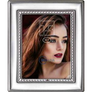 Sterling ezüst fényképkeret gótikus mintával (13x18cm)