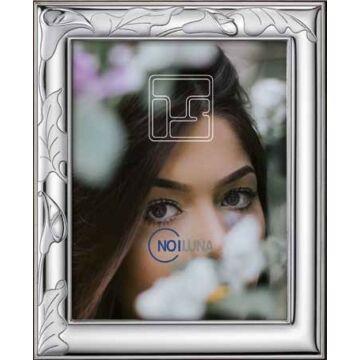 Ezüst fényképkeret - kála virággal (15x20cm)