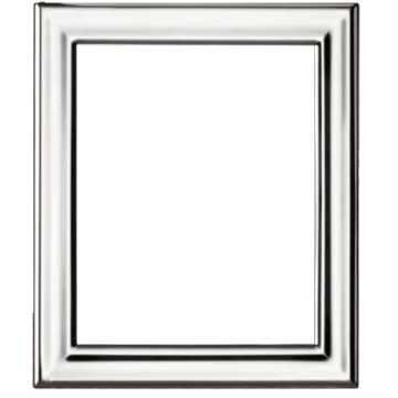 Ezüst fényképkeret - sima, fényes (20x25cm)