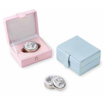 Ezüst-dísztárgy - Ezüst laminált fogtartó doboz rózsaszín dobozban
