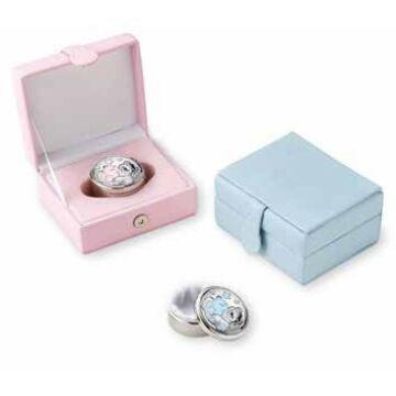 Ezüst-dísztárgy - Ezüst laminált fogtartó doboz, rózsaszín, dobozban