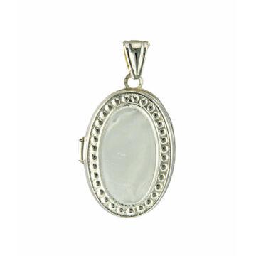 Ezüst ékszer    -  Sterling ezüst ovális nyitható medál