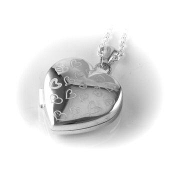 Ezüst ékszer   - Sterling ezüst nyitható szív medál, szíves, lánccal