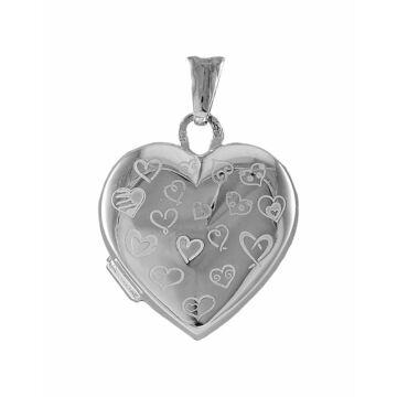 Ezüst ékszer   - Sterling ezüst nyitható szív medál, apró szívmintával