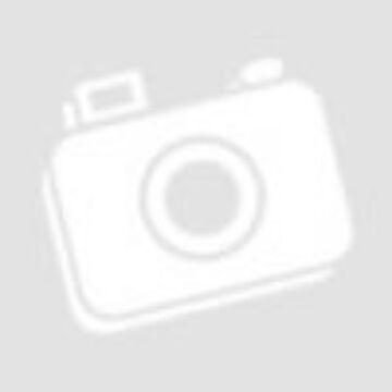 Ezüst fényképkeret - maci kék szívvel (9x13 cm)