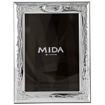 Ezüst fényképkeret - esküvőre (9x13cm)