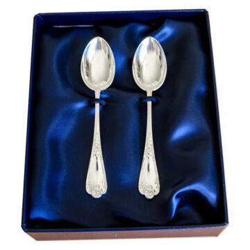 Sterling ezüst desszertes villa, XV. Lajos stílusú, párban