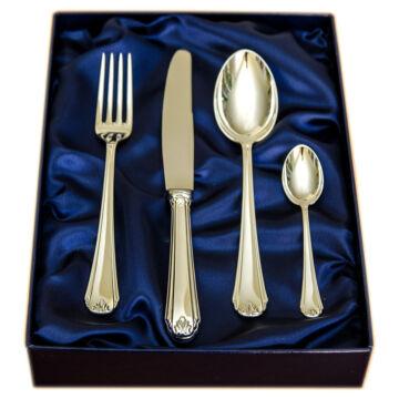 Sterling ezüst evőeszköz, modern empire stílusú, 1 személyes, kávéskanállal