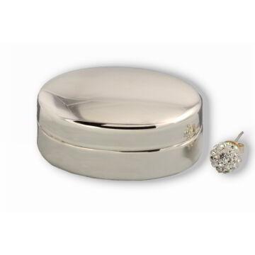 Ezüst tárgy - Sterling ezüst ovális ékszertartó