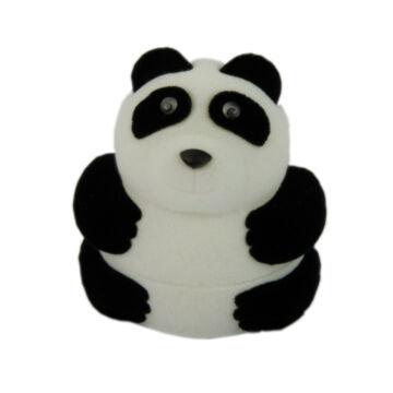 Panda maci formájú bársonyos díszdoboz